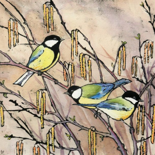 More new Sue Allen bird paintings are in the gallery