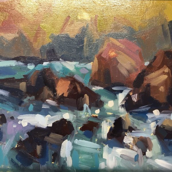 Sea Foam and Rock Study by Louise Collis