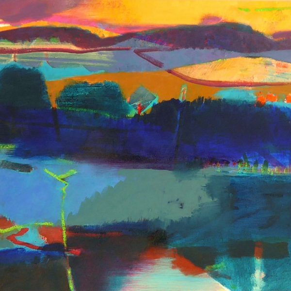 Across the Water 51 x 61 cms