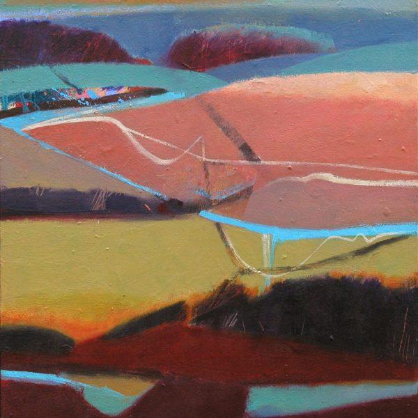 Pink Hill 43 x 38 cms (1)