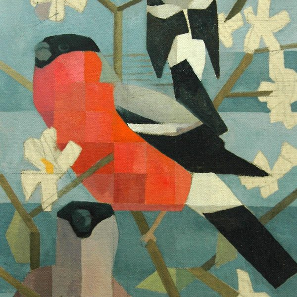 bullfinches and blossom