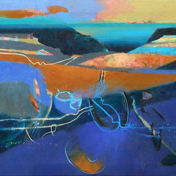 Lyme Bay Blue Lias 51 x 59 cms